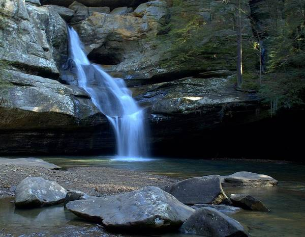 Hocking Hills Photograph - Hocking Hills Fall's by Monica Lewis