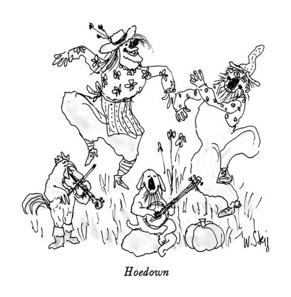 Country Music Drawing - Hoedown by William Steig