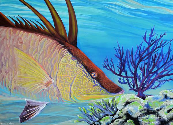 Comission Painting - Hogfish by Paola Correa de Albury