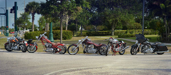 Chopper Photograph - Hogs And Choppers by Laura Fasulo