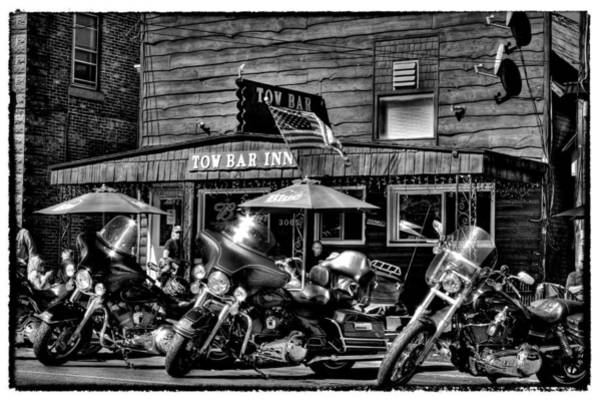 Photograph - Hogs At The Tow Bar Inn - Old Forge New York by David Patterson
