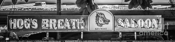 Wall Art - Photograph - Hog's Breath Saloon 1 Key West - Black And White by Ian Monk