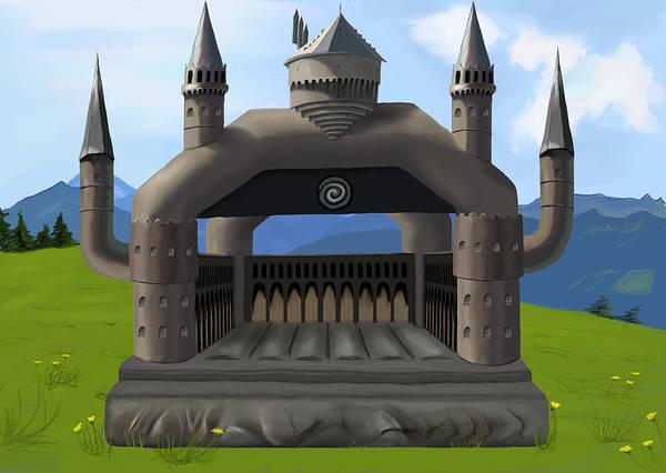 Bouncy Digital Art - Hogwarts Bouncy Castle by Saskia Ahlbrecht