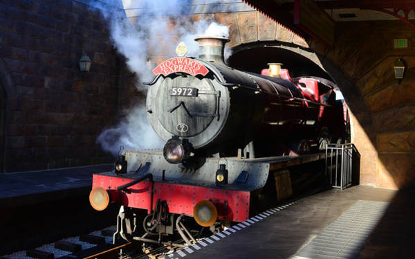 Depot Photograph - The Hogwarts Express Is Here by David Lee Thompson