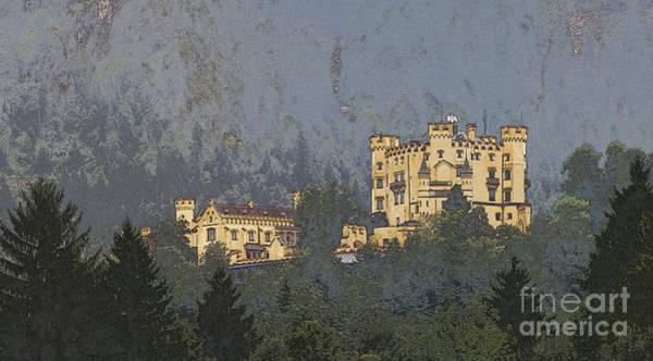 Photograph - Hohenschwangau Castle In The Bavarian Hills by Heiko Koehrer-Wagner