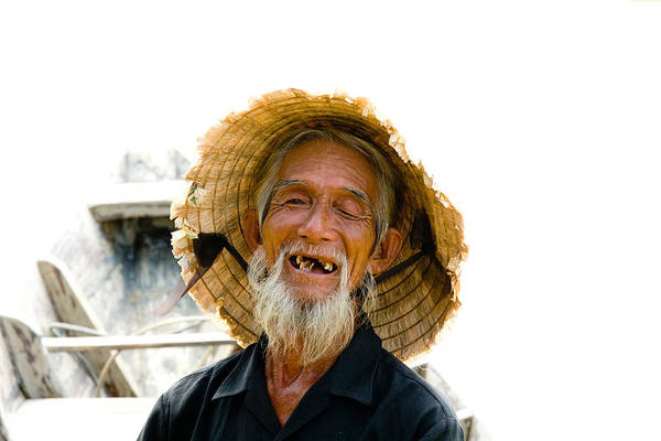 Historic Site Photograph - Hoi An Fisherman by David Smith