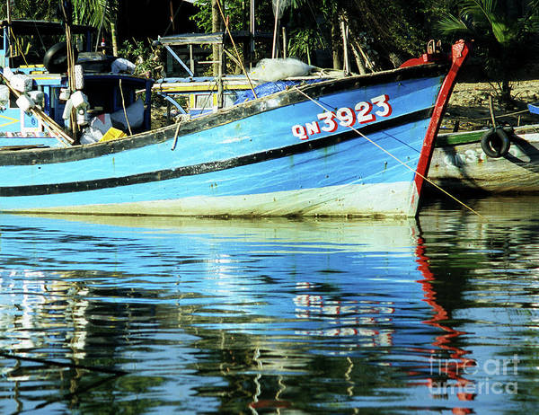 Hoi An Photograph - Hoi An Fishing Boat 01 by Rick Piper Photography