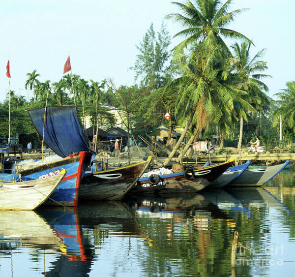Hoi An Photograph - Hoi An Fishing Boats 01 by Rick Piper Photography