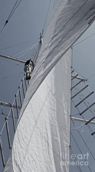 Photograph - Hoisting The Mainsails by Jani Freimann