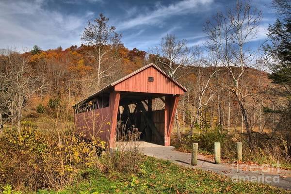 Photograph - Hokes Mill Covered Bridge by Adam Jewell