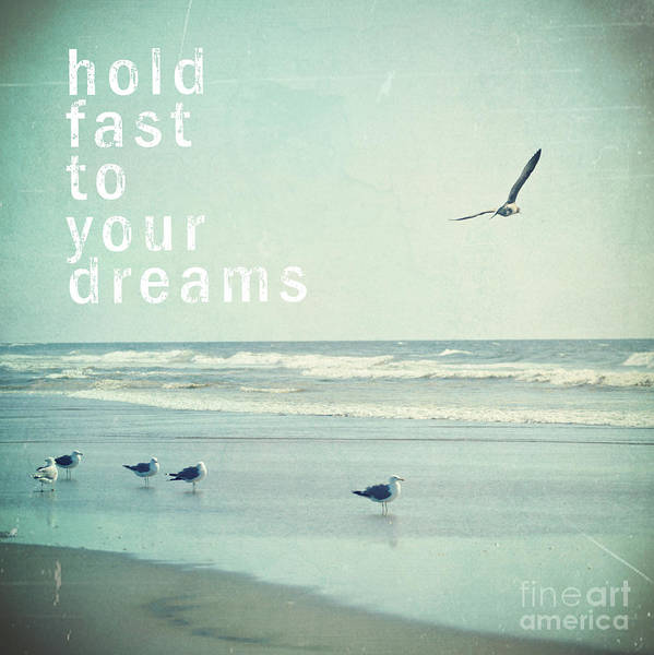 Beaches Photograph - Hold Fast To Your Dreams by Sylvia Cook