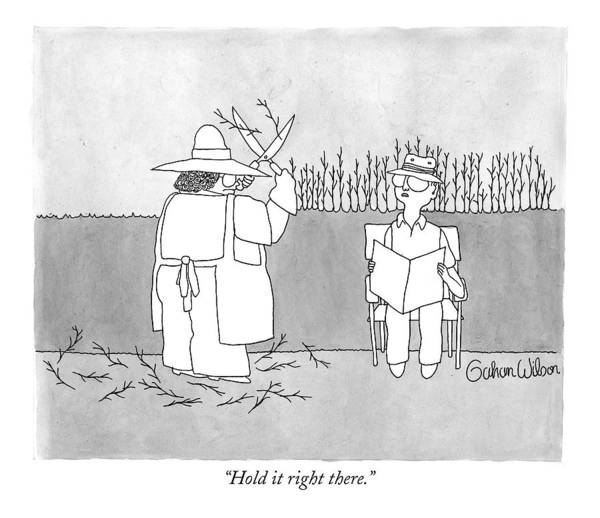 Chores Drawing - Hold It Right There by Gahan Wilson