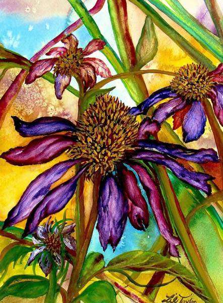 Coneflower Painting - Holding On To Summer Sold by Lil Taylor