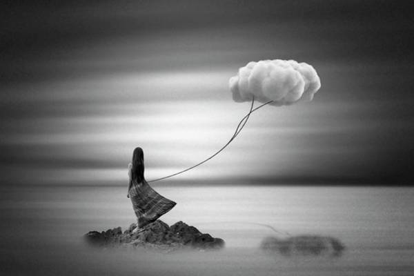 Black Cloud Photograph - Holding On To The Past by Mark Biwit