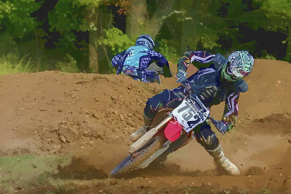 Dirtbike Photograph - Holding The Line by Jack R Perry