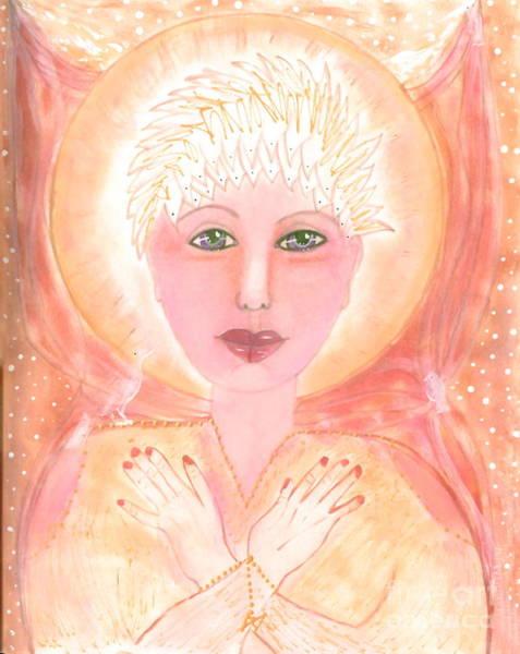 Wall Art - Painting - Holding The Sacred Space by Nancy TeWinkel Lauren