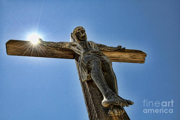 Photograph - The Son Holding The Sun In Mission Soledad By Diana Sainz by Diana Raquel Sainz