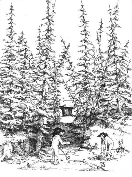 Drawing - Hole 3 by Sam Sidders