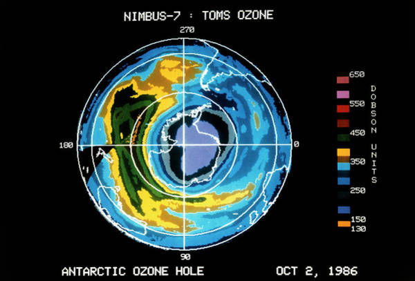 Ozone Layer Photograph - Hole In Ozone Layer by Nasa/science Photo Library