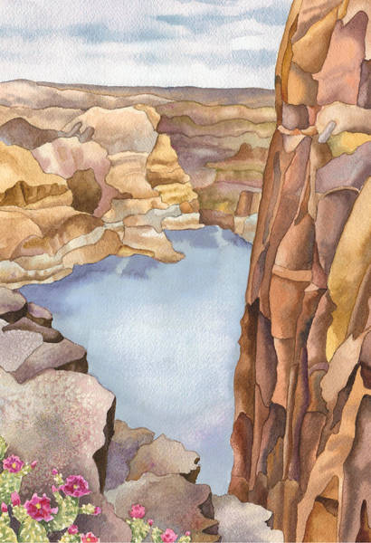 Butte Wall Art - Painting - Hole In The Rock by Anne Gifford