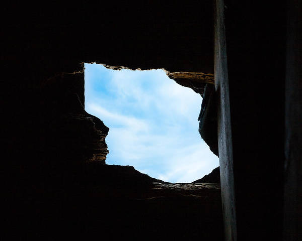Photograph - Hole In The Roof  by Gary Heller