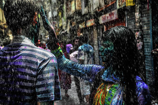 Hand Painted Photograph - Holi Festival Of Color by M Ponir Hossain