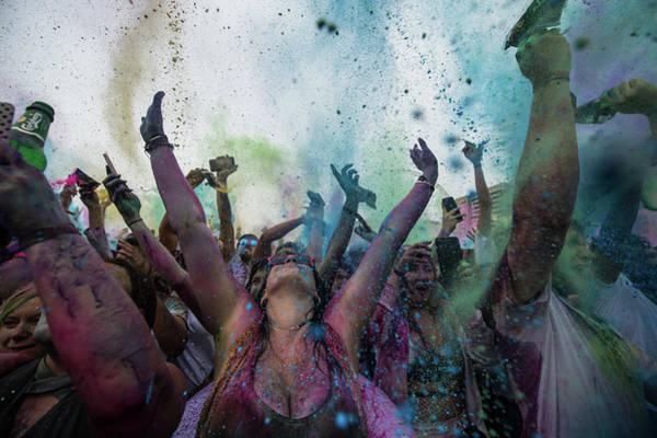 Holi Photograph - Holi Festival Of Colours Is Celebrated by Chris J Ratcliffe