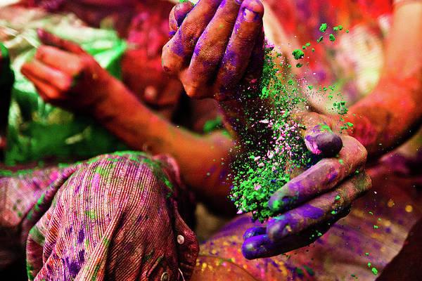 Holi Photograph - Holi Hands by Gulfu Photography