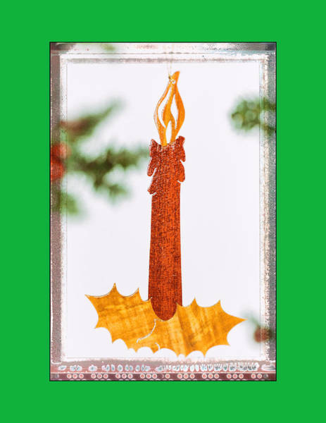Photograph - Holiday Candlestick Art Ornament In Green by Jo Ann Tomaselli