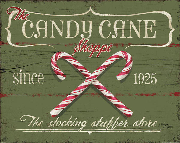 Cane Painting - Holiday Candy Shops II by Wellington Studio