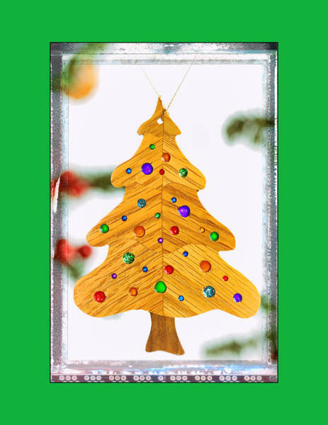 Photograph - Holiday Christmas Tree Art Ornament In Green by Jo Ann Tomaselli