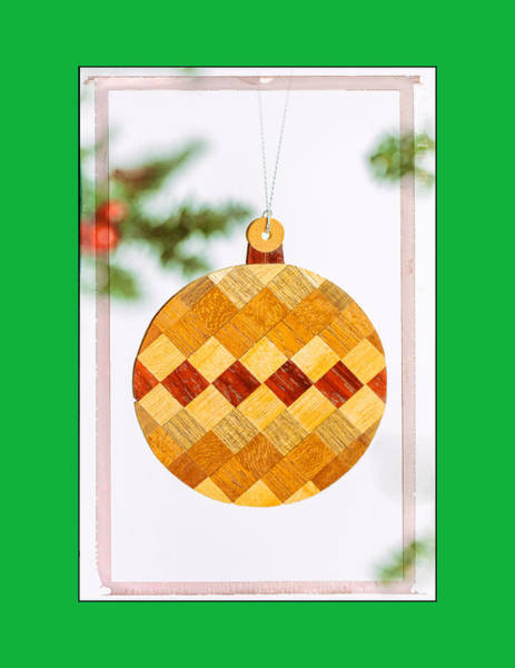Photograph - Holiday Diamond Pattern Art Ornament In Green by Jo Ann Tomaselli