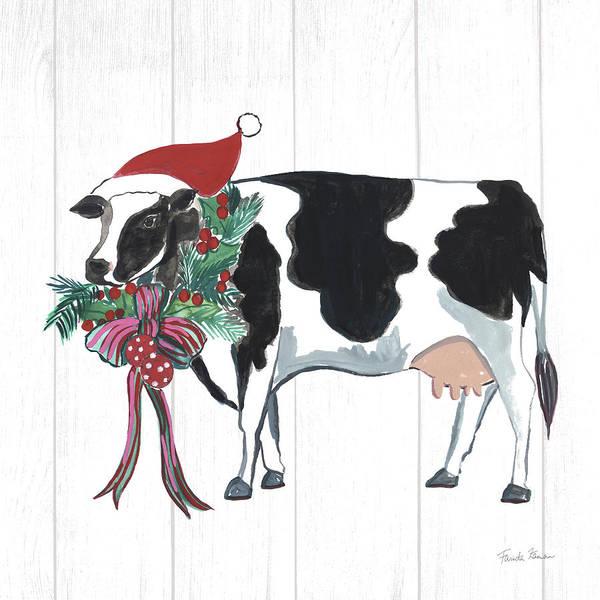 Wall Art - Painting - Holiday Farm Animals Iv by Farida Zaman