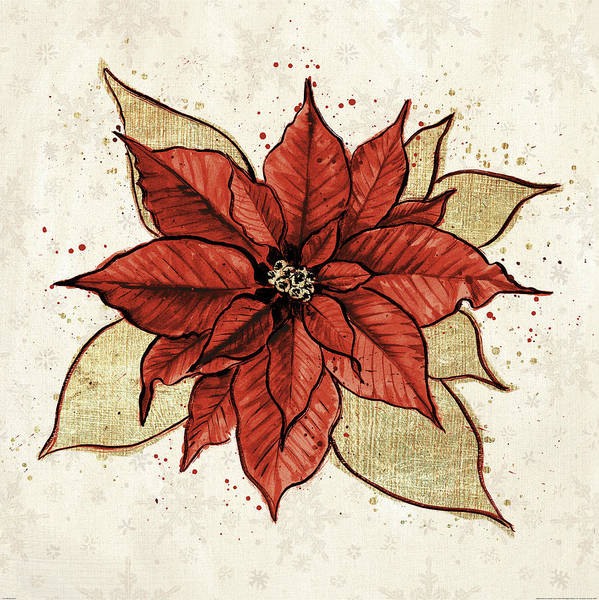 Christmas Flowers Painting - Holiday Gem IIi by Janelle Penner