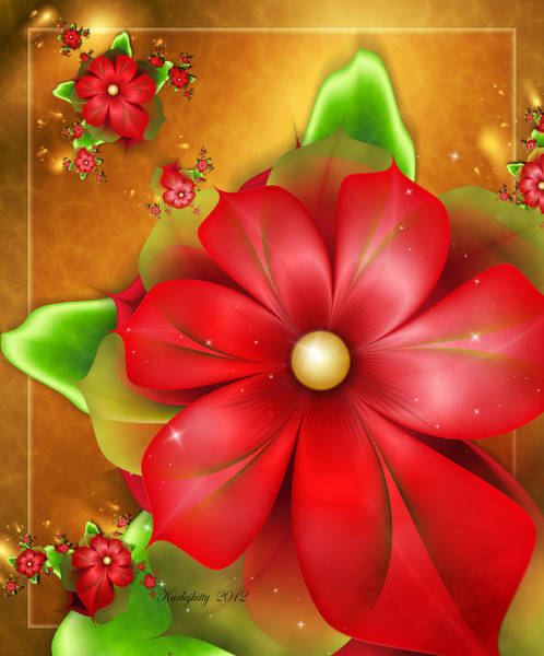 Digital Art - Holiday Glow by Karla White