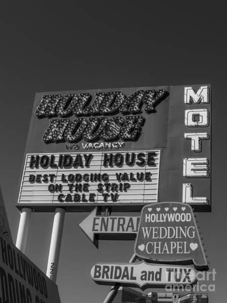 Photograph - Holiday House Motel Las Vegas 2013 by Edward Fielding