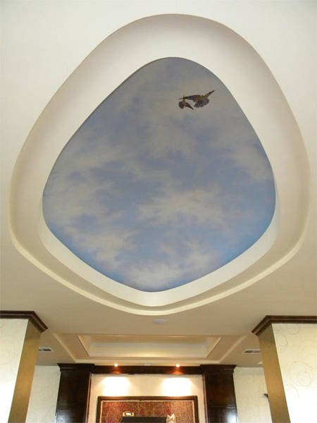Painting - Holiday Inn Express Ceiling Dome Mural by Frank Wilson