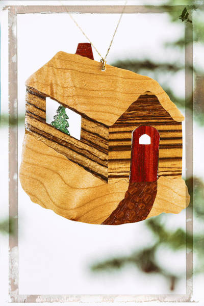 Photograph -  Log Cabin Holiday Image Art by Jo Ann Tomaselli