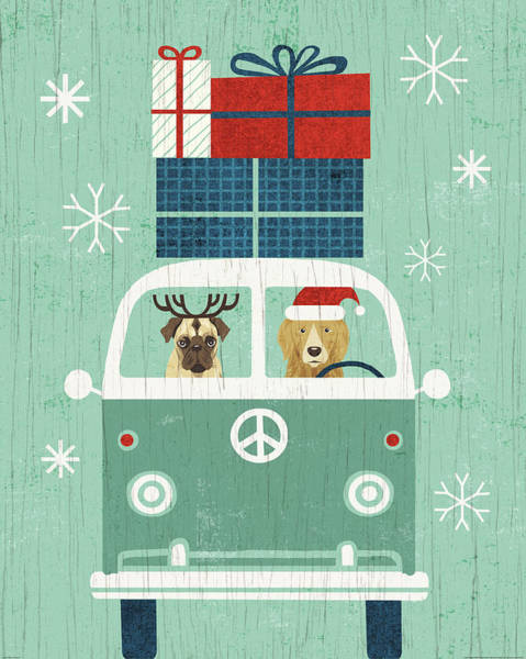 White Christmas Painting - Holiday On Wheels Xii by Michael Mullan