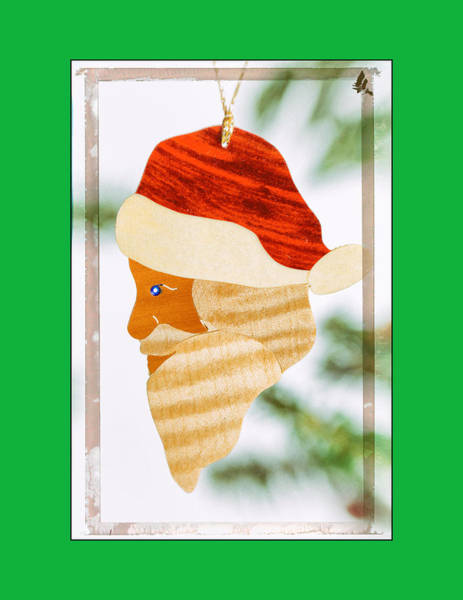 Photograph - Holiday Santa Claus Ornament Art In Green by Jo Ann Tomaselli