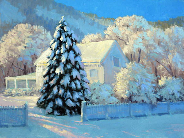 Wall Art - Painting - Holiday Snow by Armand Cabrera