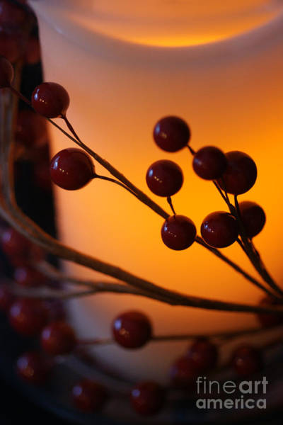 Photograph - Holiday Warmth By Candlelight 1 by Linda Shafer