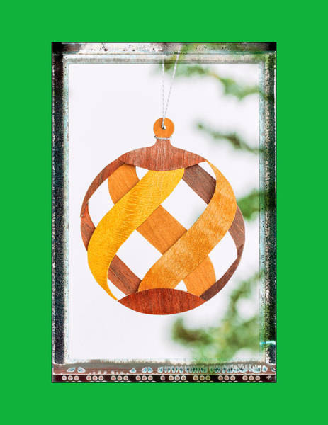 Photograph - Holiday Weave Pattern Art Ornament In Green by Jo Ann Tomaselli
