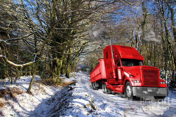 Peterbilt Photograph - Holidays Are Coming  by Rob Hawkins