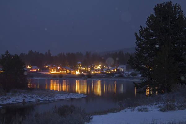Christmas Lights Photograph - Holidays In The Shire by Jeremy Jensen