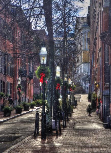Photograph - Holidays On Beacon Hill - Boston by Joann Vitali