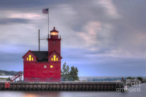 Two Harbors Photograph - Holland Big Red Lighthouse by Twenty Two North Photography