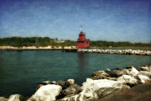 Holland State Park Photograph - Holland Harbor Light And Breakwater by Michelle Calkins