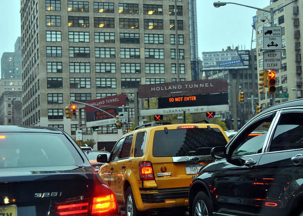 Holland Tunnel Wall Art - Photograph - Holland Tunnel Traffic by Christine Crowley
