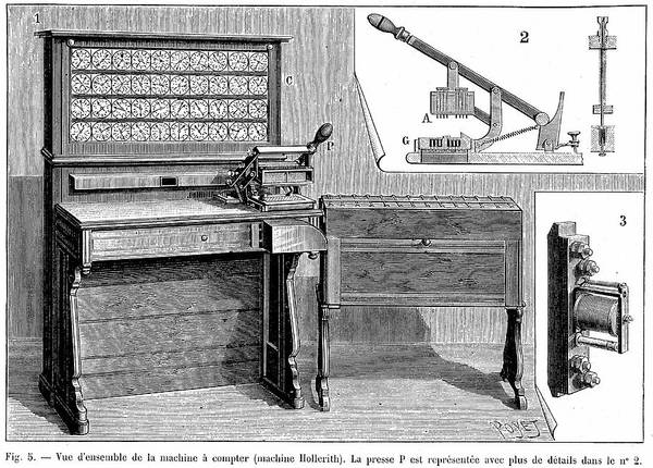 1894 Photograph - Hollerith Tabulator by Universal History Archive/uig
